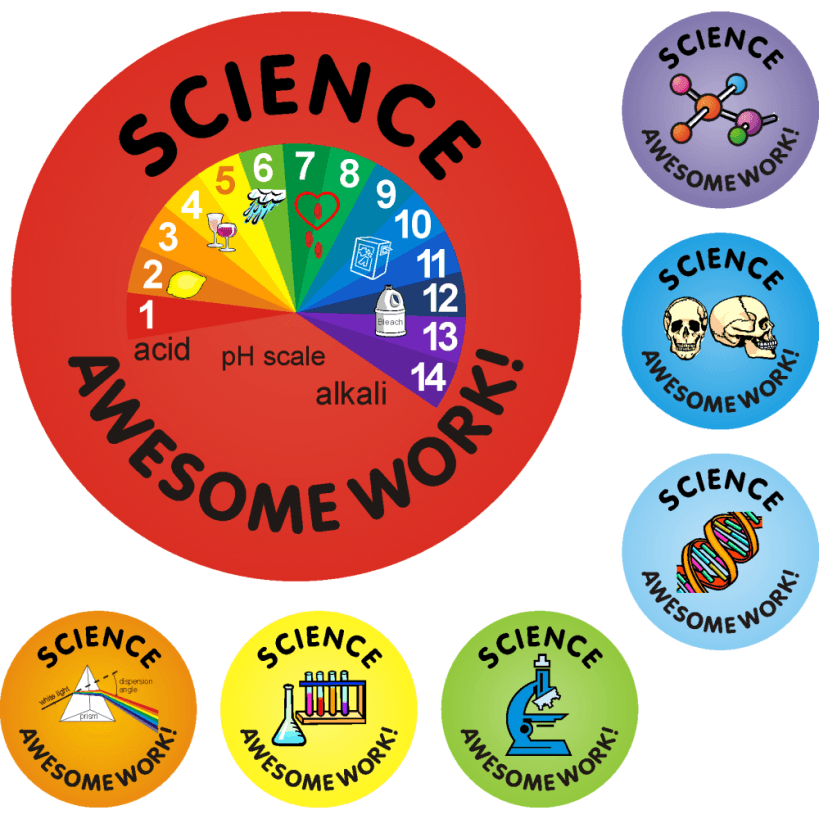 140 science awesome work reward stickers praise for Awesome science wall decals