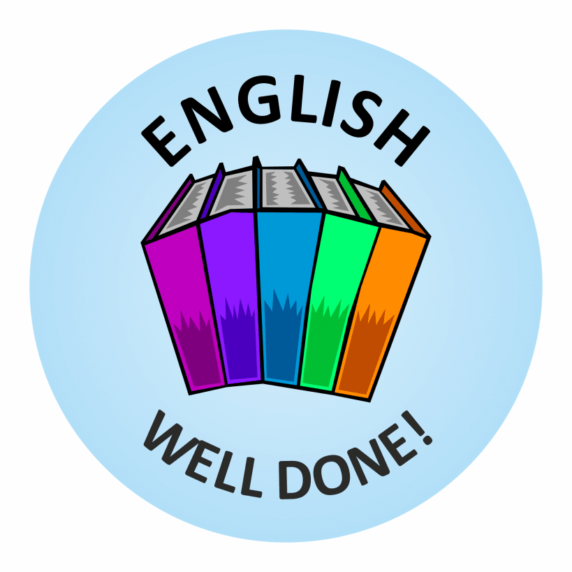 English Well Done Stickers |personalised | 819 x 819 png 83kB