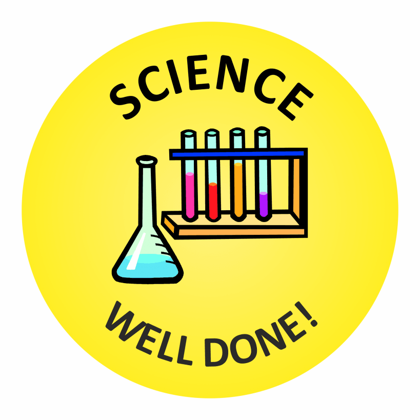 Science Well Done Stickers