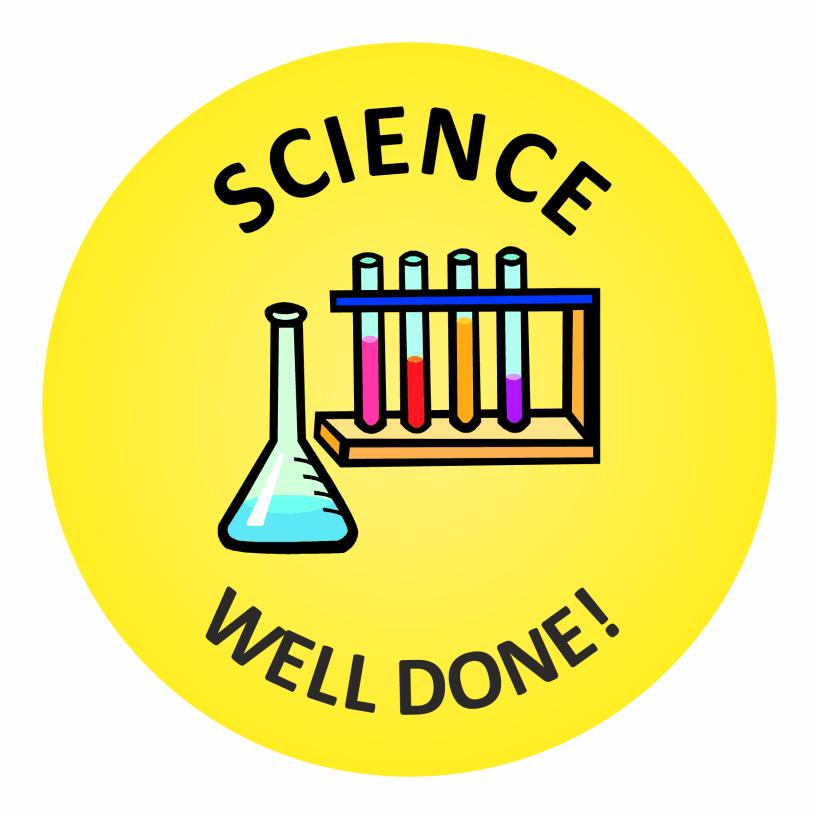 Science Well Done Stickers | School Reward Stickers | 819 x 819 png 71kB