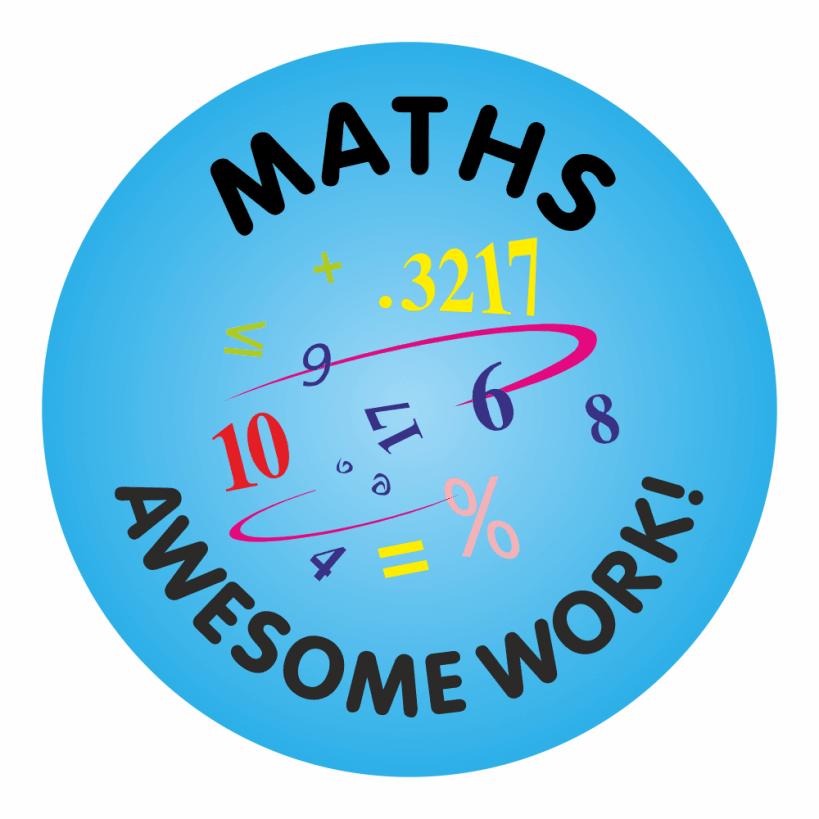 Maths Awesome Work Reward Praise Stickers Teacher