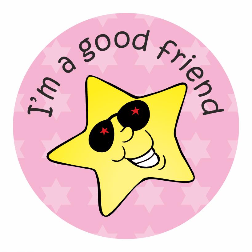 Good Friend Stickers | School Stickers for Teachers