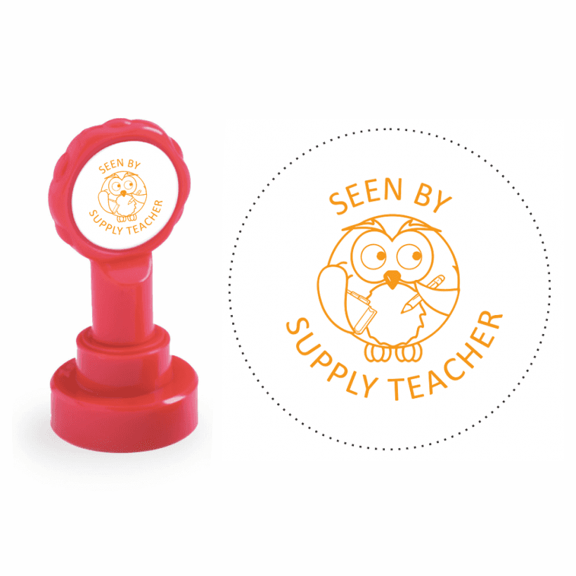 Xclamation Seen By Supply Teacher Stamp