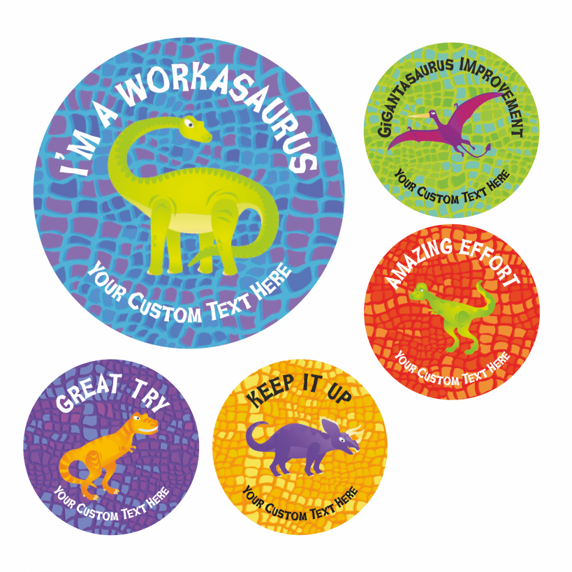 Dinosaur reward charts school stickers for behaviour