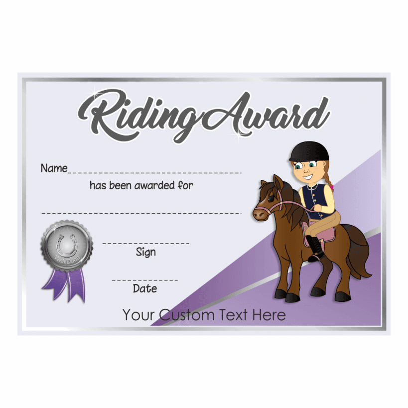 riding award certificates. Black Bedroom Furniture Sets. Home Design Ideas