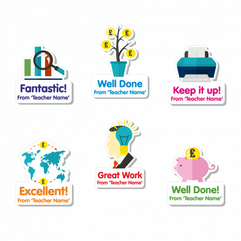 Business studies custom shape stickers