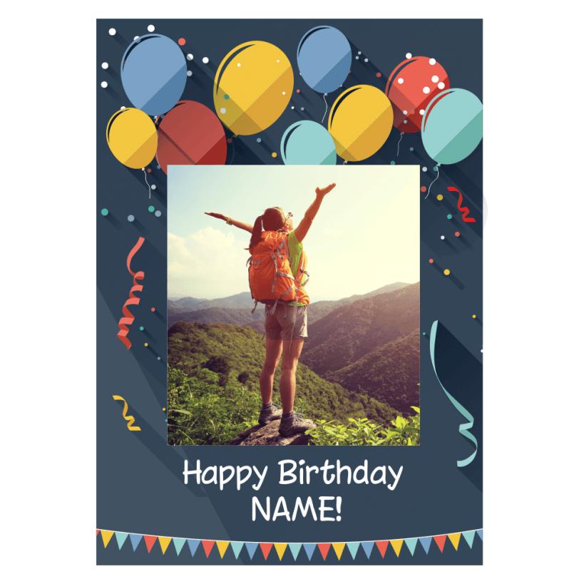 happy birthday photo upload poster matte