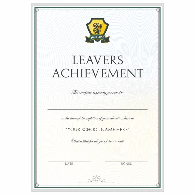 Logo Leavers Achievement Certificate