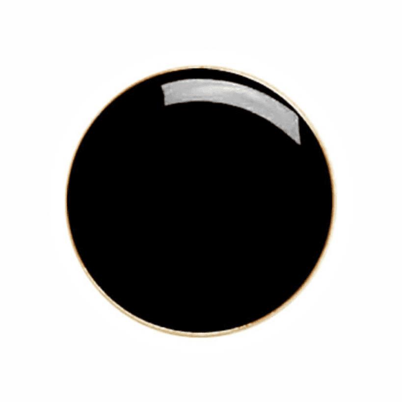 round badge black