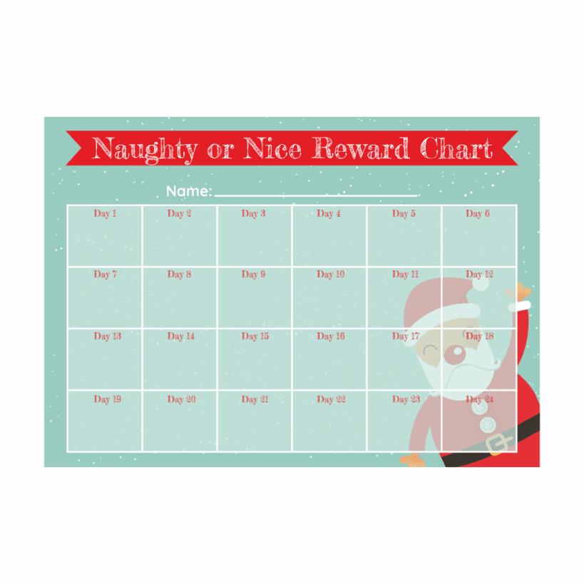 Christmas Naughty Or Nice Chart.A4 Naughty Or Nice Reward Chart