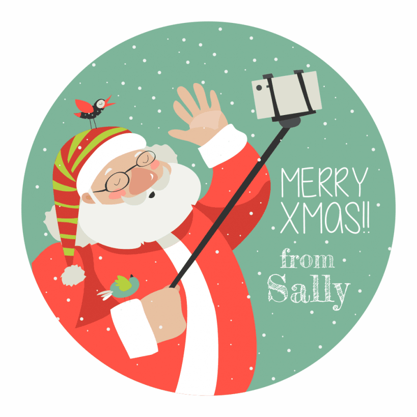Christmas Stickers.Christmas Stickers Santa Selfie
