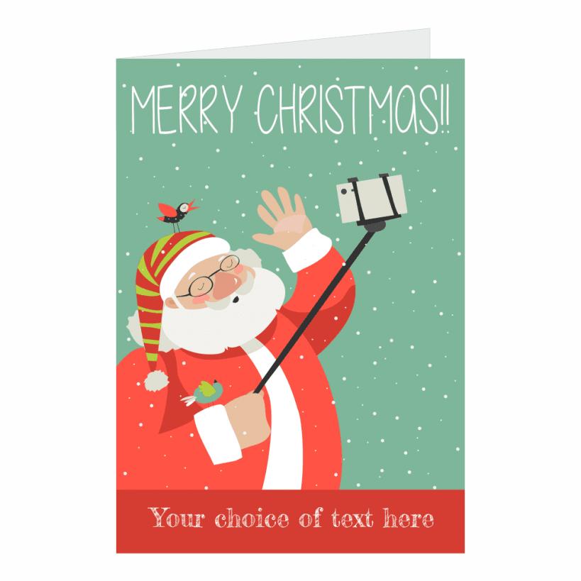 Santa Selfie Personalised Christmas Cards