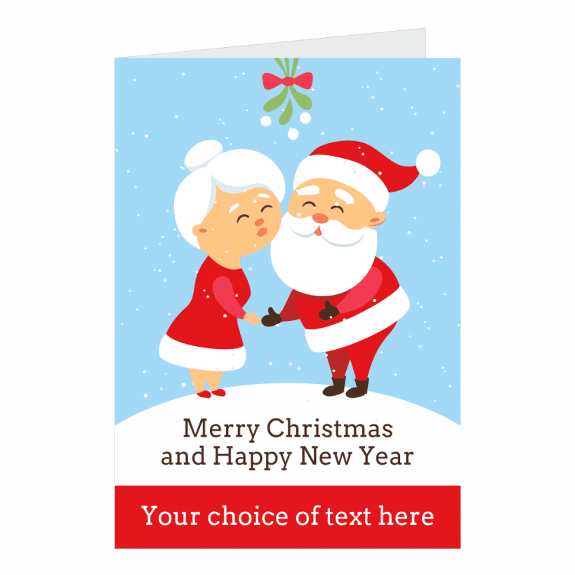 Mr Mrs Claus Personalised Christmas Cards