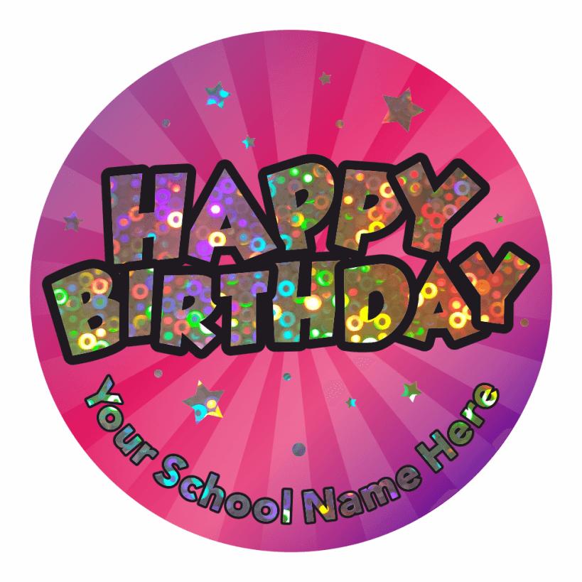 Super Sparkly Happy Birthday Stickers