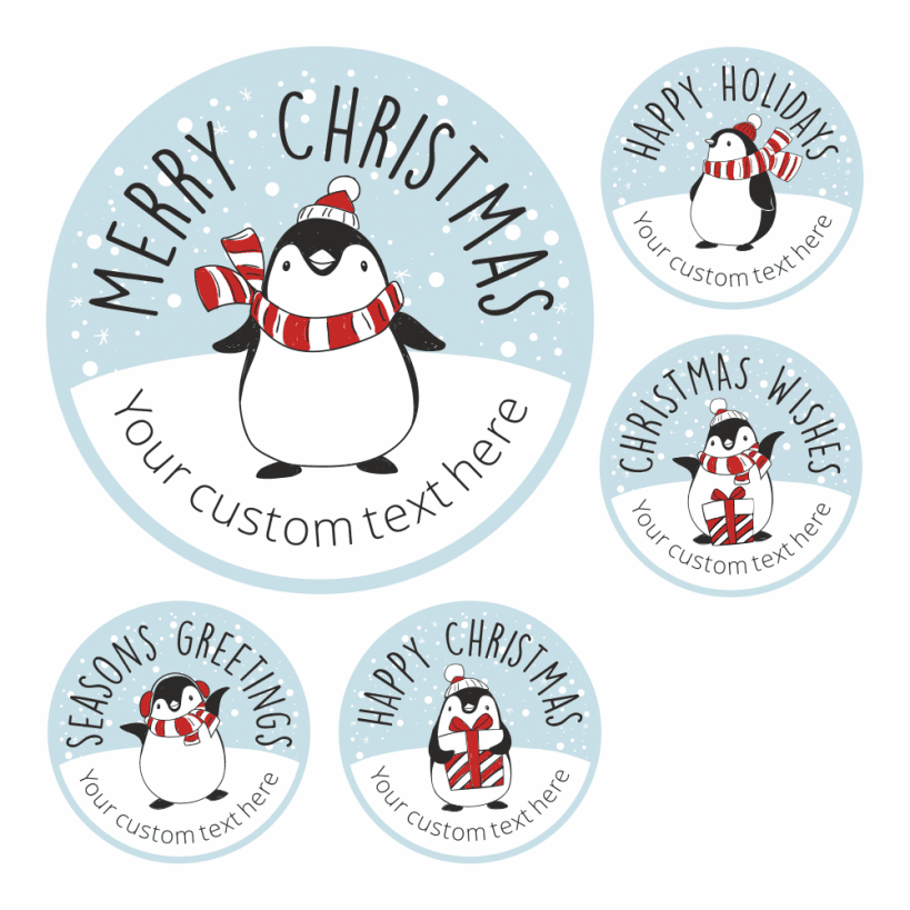 Christmas Sticker Santa from Santa Gift Tag Card Label Present NonPersonalised