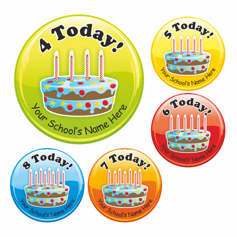 Birthday Cake Stickers School Stickers For Teachers