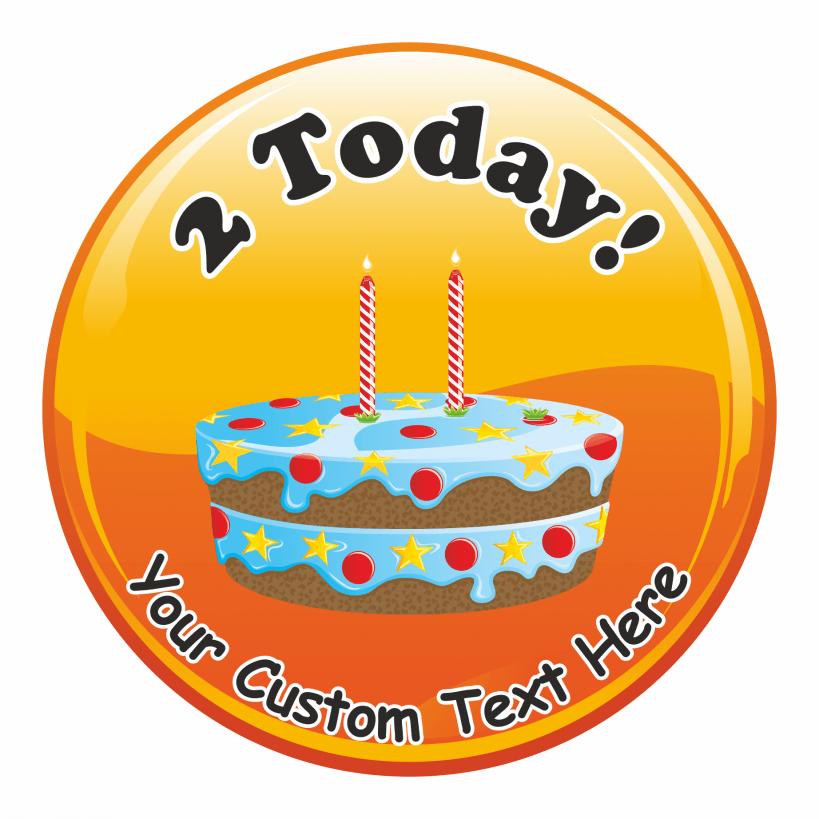 Happy 2nd Birthday Cake Stickers