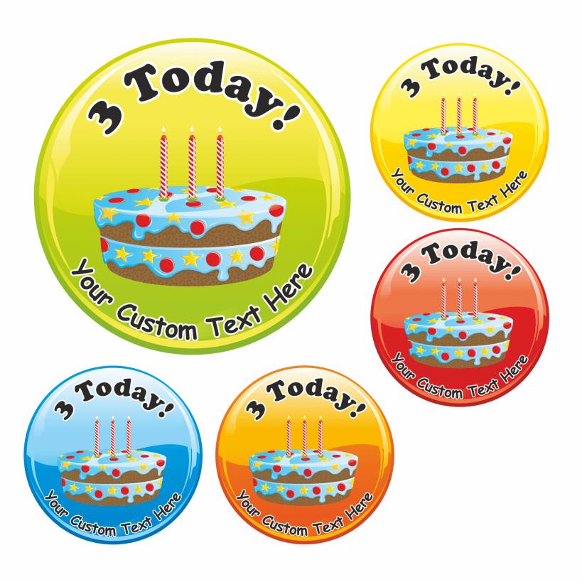 Tremendous Happy 3Rd Birthday Cake Praise Stickers Funny Birthday Cards Online Overcheapnameinfo