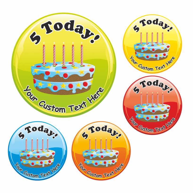 Remarkable Happy 5Th Birthday Cake Stickers Funny Birthday Cards Online Elaedamsfinfo