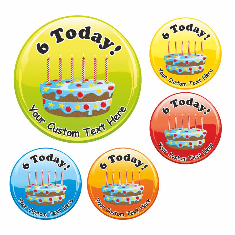 Sensational Happy 6Th Birthday Cake Praise Stickers Personalised Birthday Cards Veneteletsinfo