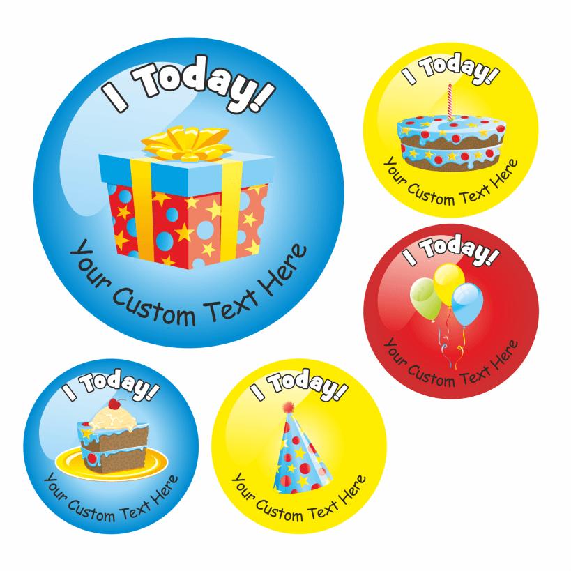 Happy Birthday Stickers Variety Pack