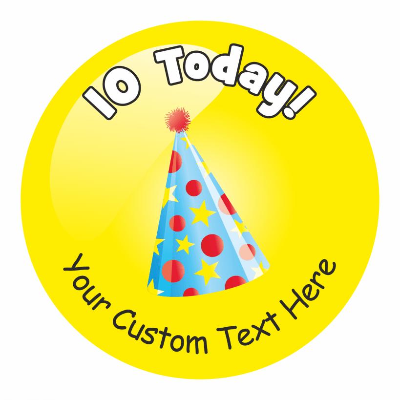 Happy 10th Birthday Stickers