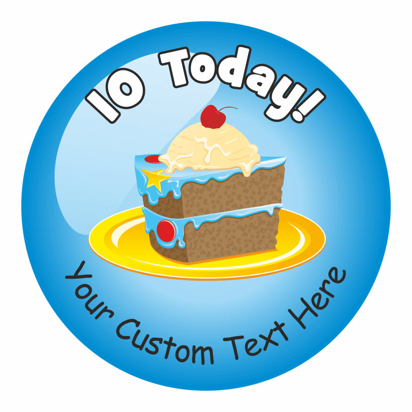 Happy 10th Birthday Stickers - Variety Pack