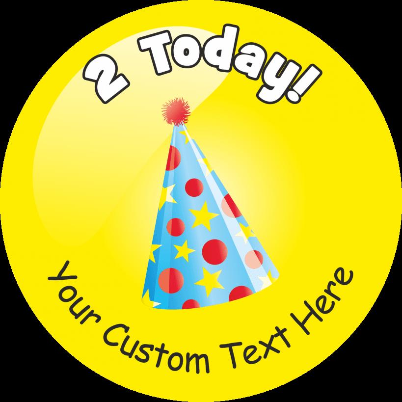 Happy 2nd Birthday Stickers