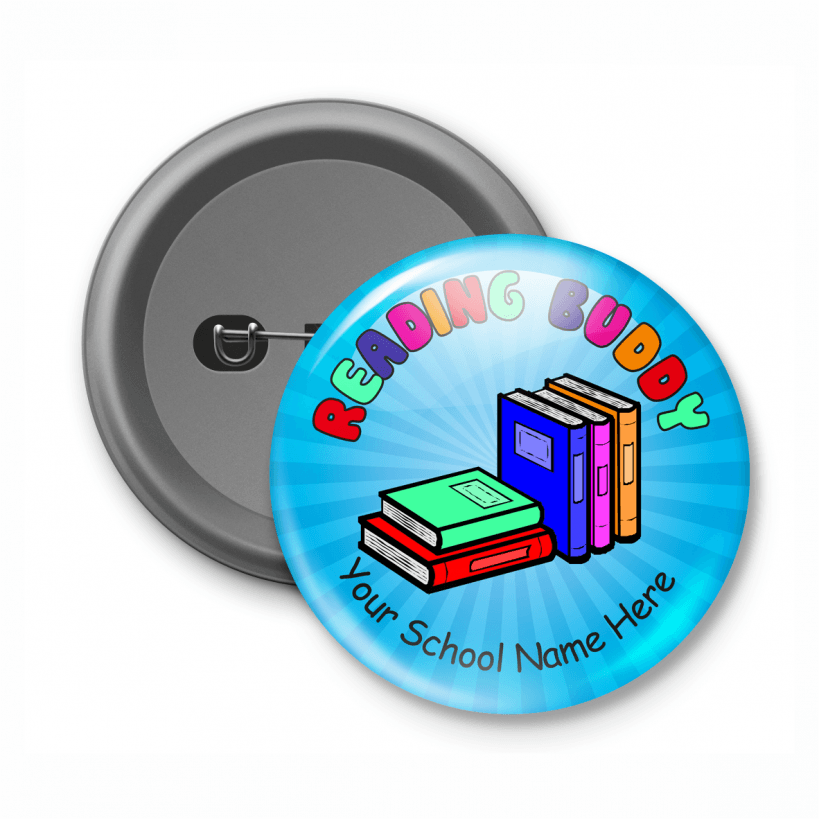 reading buddy customised button badge. Black Bedroom Furniture Sets. Home Design Ideas