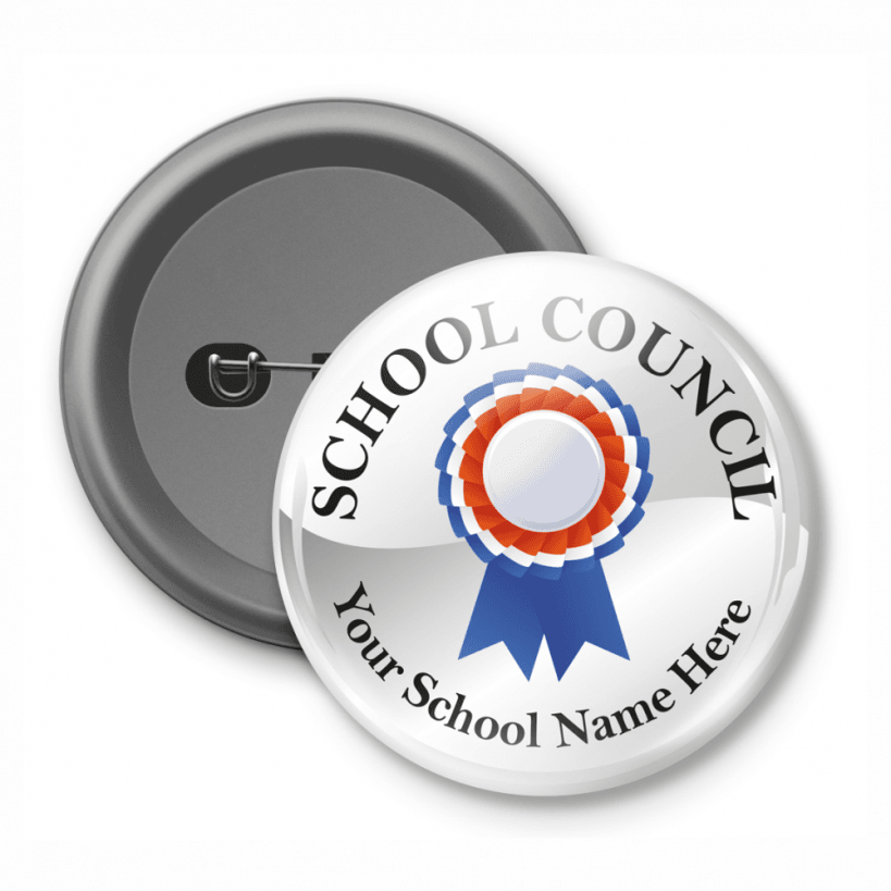 school council customised button badge. Black Bedroom Furniture Sets. Home Design Ideas