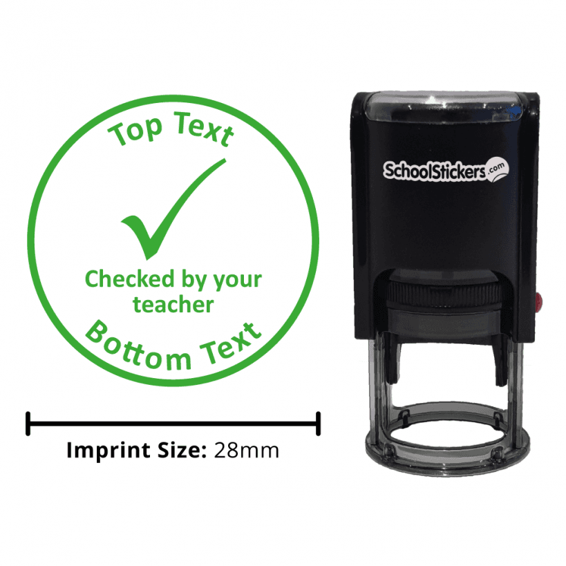 Checked By Your Teacher Stamp Green