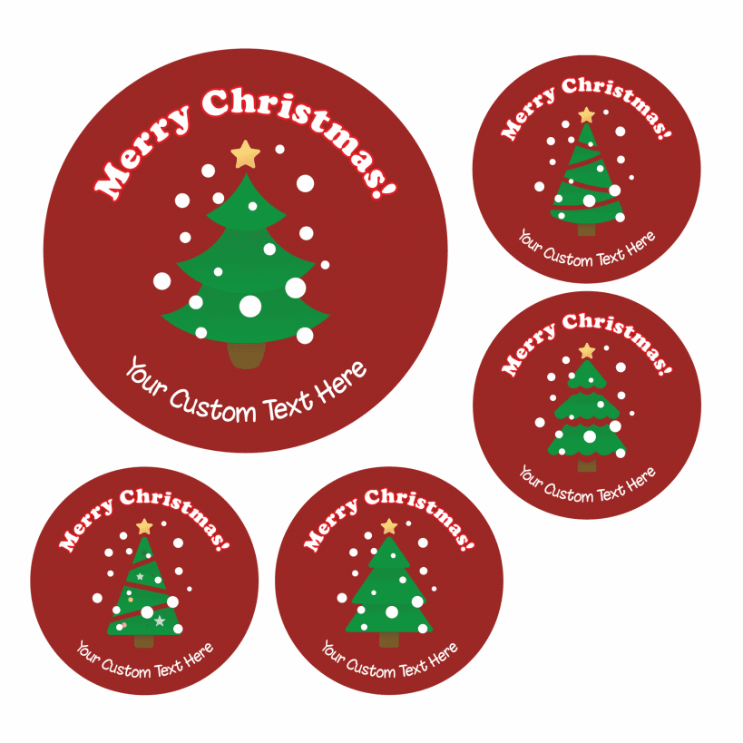 Home christmas tree stickers