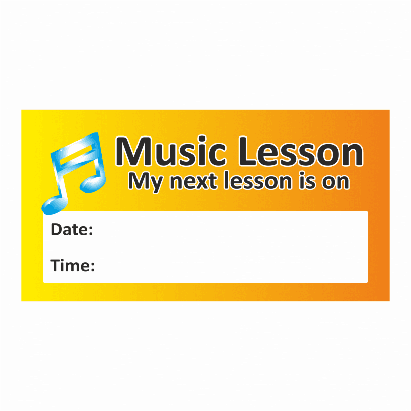 Music lesson stickers