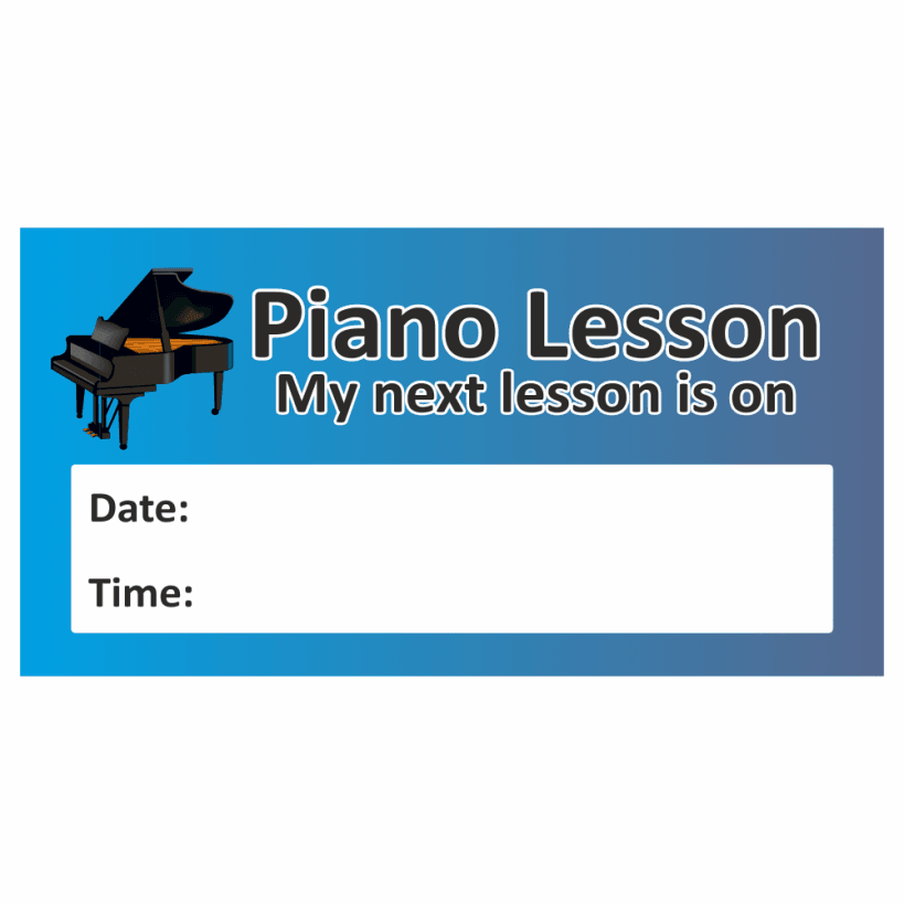 Piano lesson stickers school stickers for teachers