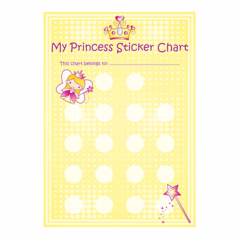 Princess reward chart school stickers chart