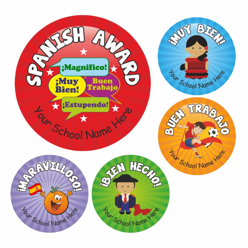 Primary spanish stickers set 2