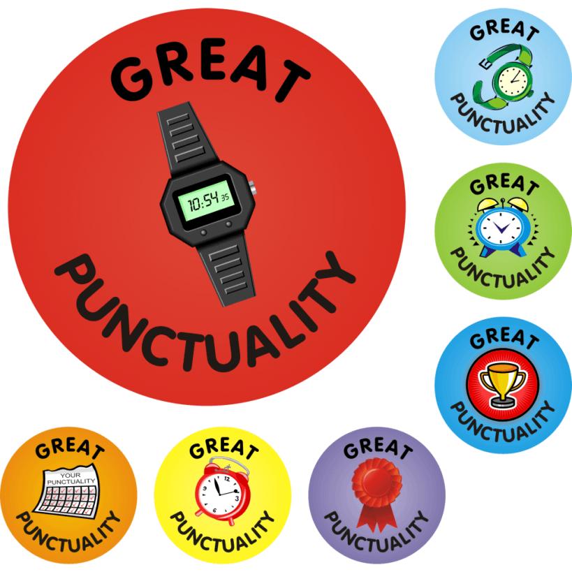 Great Punctuality Reward Praise Stickers