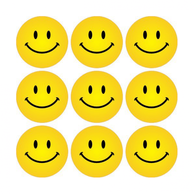 yellow smiley faces stickers | school stickers  school stickers
