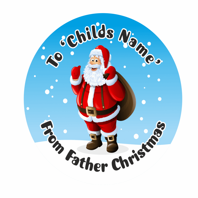 from father personalised christmas present stickers