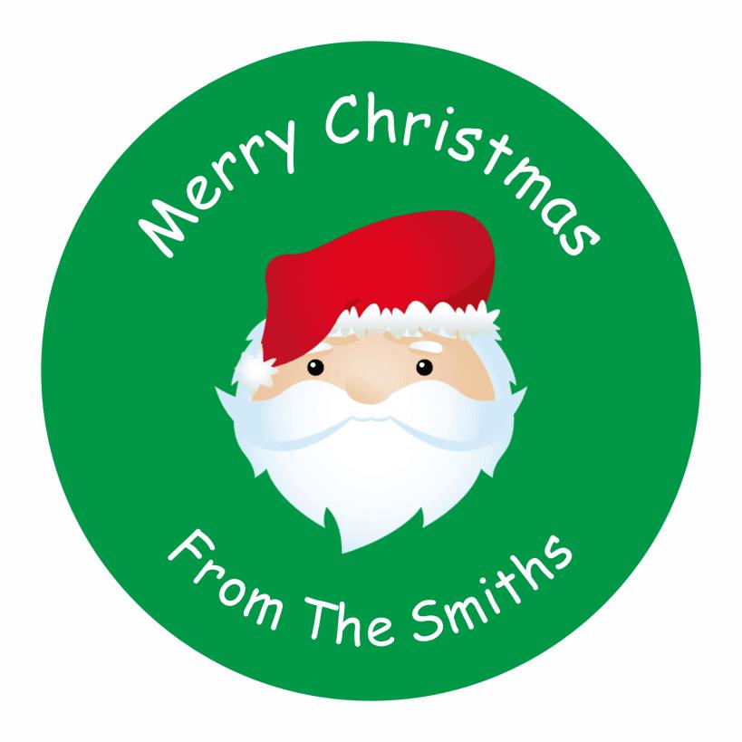 Personalised Christmas Santa Labels   Sticker Store