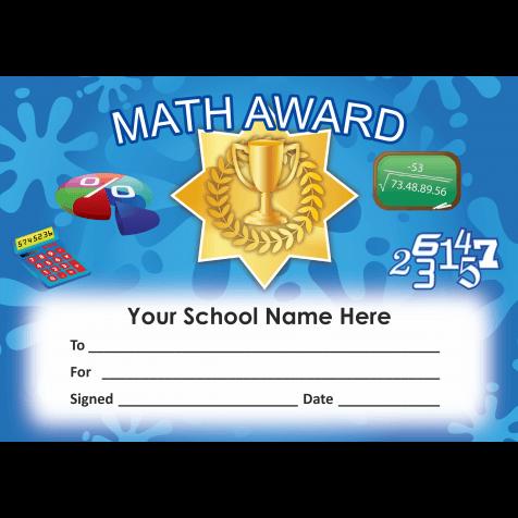 Math Certificate Set 4   School Stickers for Teachers