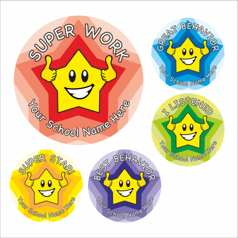 Behavior Star Stickers School Stickers For Teachers